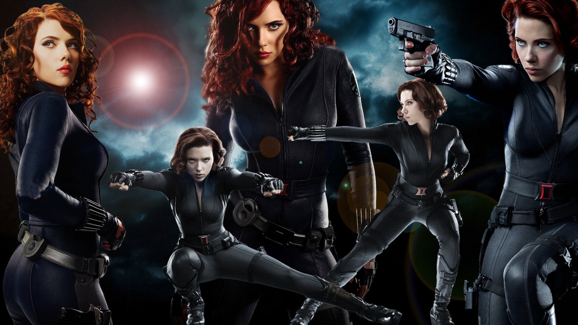 Black Widow Wallpaper by lordamrasnenharma 1920x1080