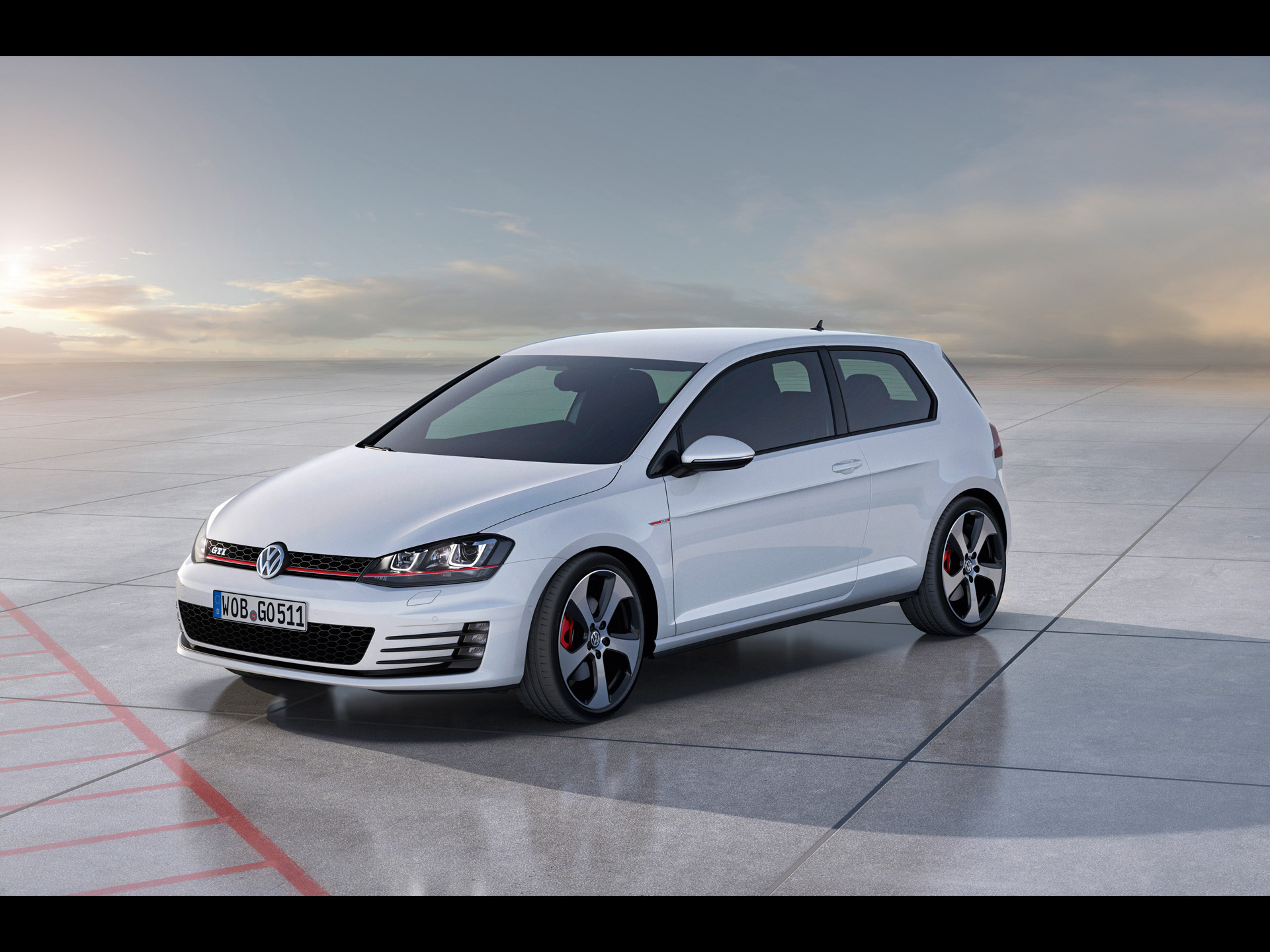 Golf 7 GTI Concept Static Side Angle wallpapers 2012 Volkswagen Golf 1920x1440