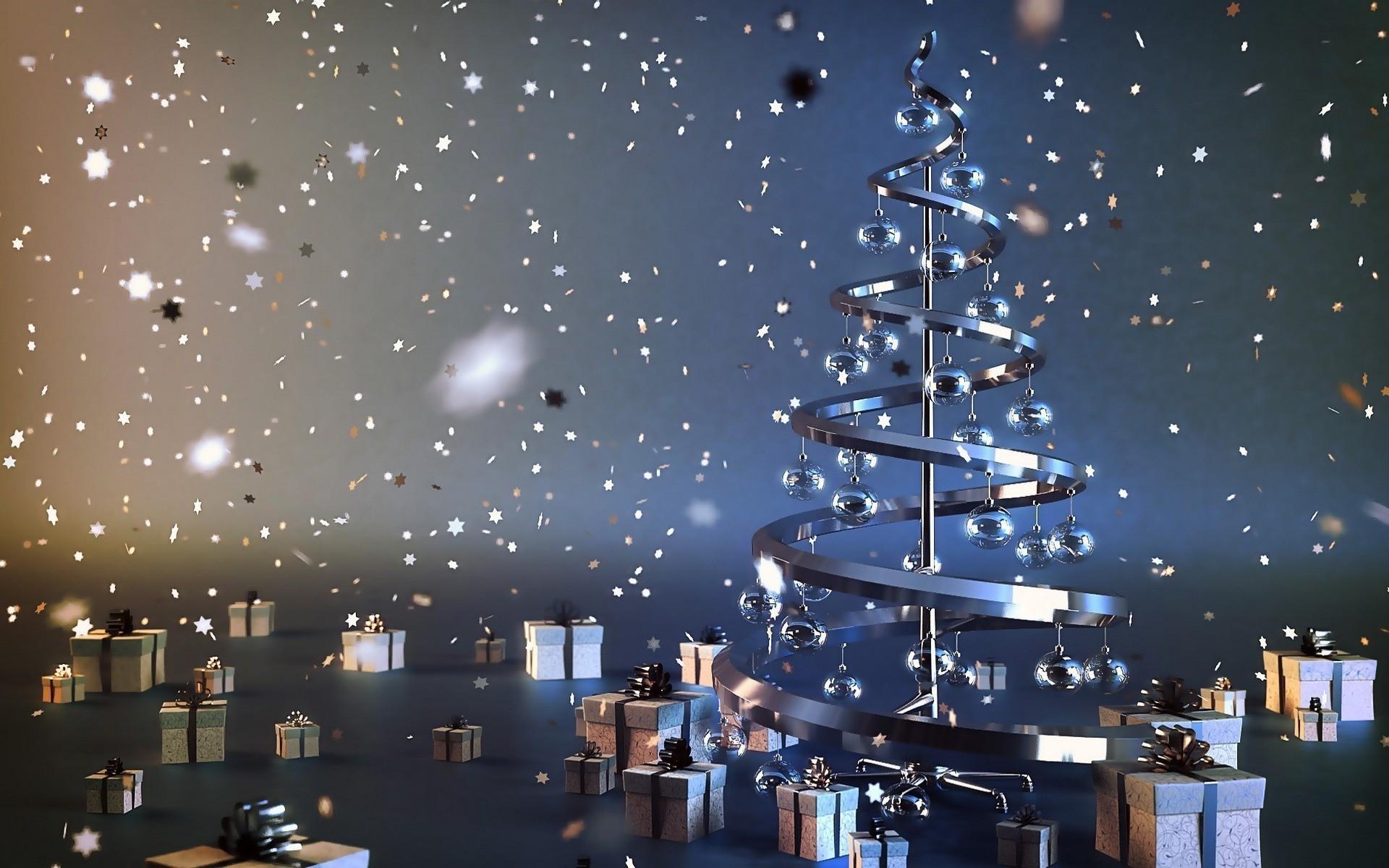 Nol cadeaux de fte nouvel an neige Papier peint 1920x1200