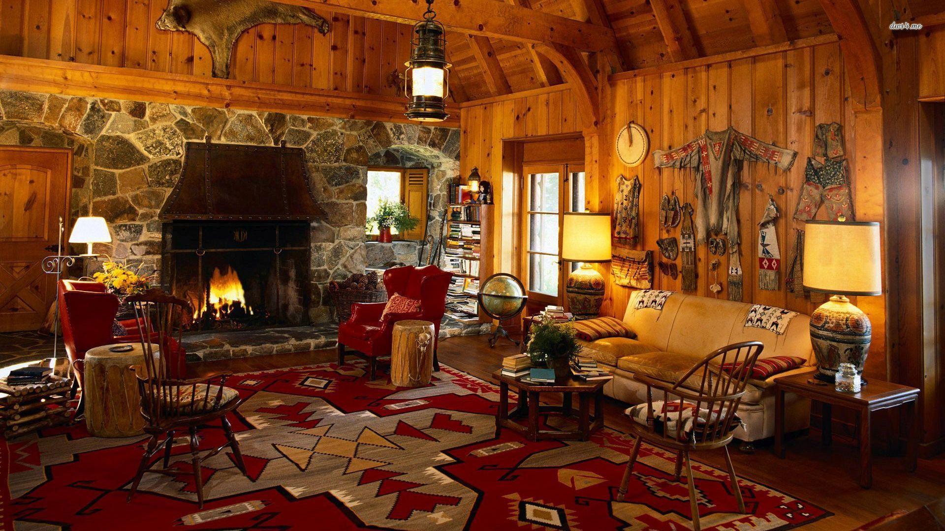 rustic lodge wallpaper wallpapersafari. Black Bedroom Furniture Sets. Home Design Ideas
