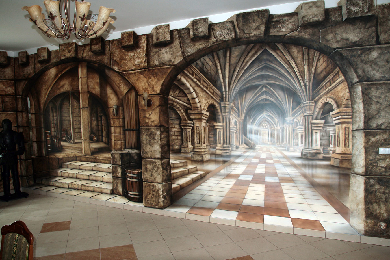 medieval theme mural 00jpg 1350900 OMG This is amazing I 1350x900