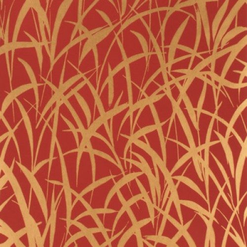 Designer Mulberry Grasses Red Gold Wallpaper Design House Online image 500x500
