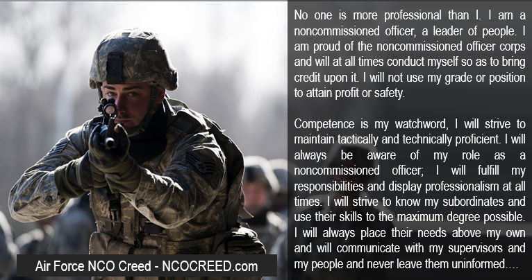 Air Force Nco Creed HD Walls Find Wallpapers 766x404