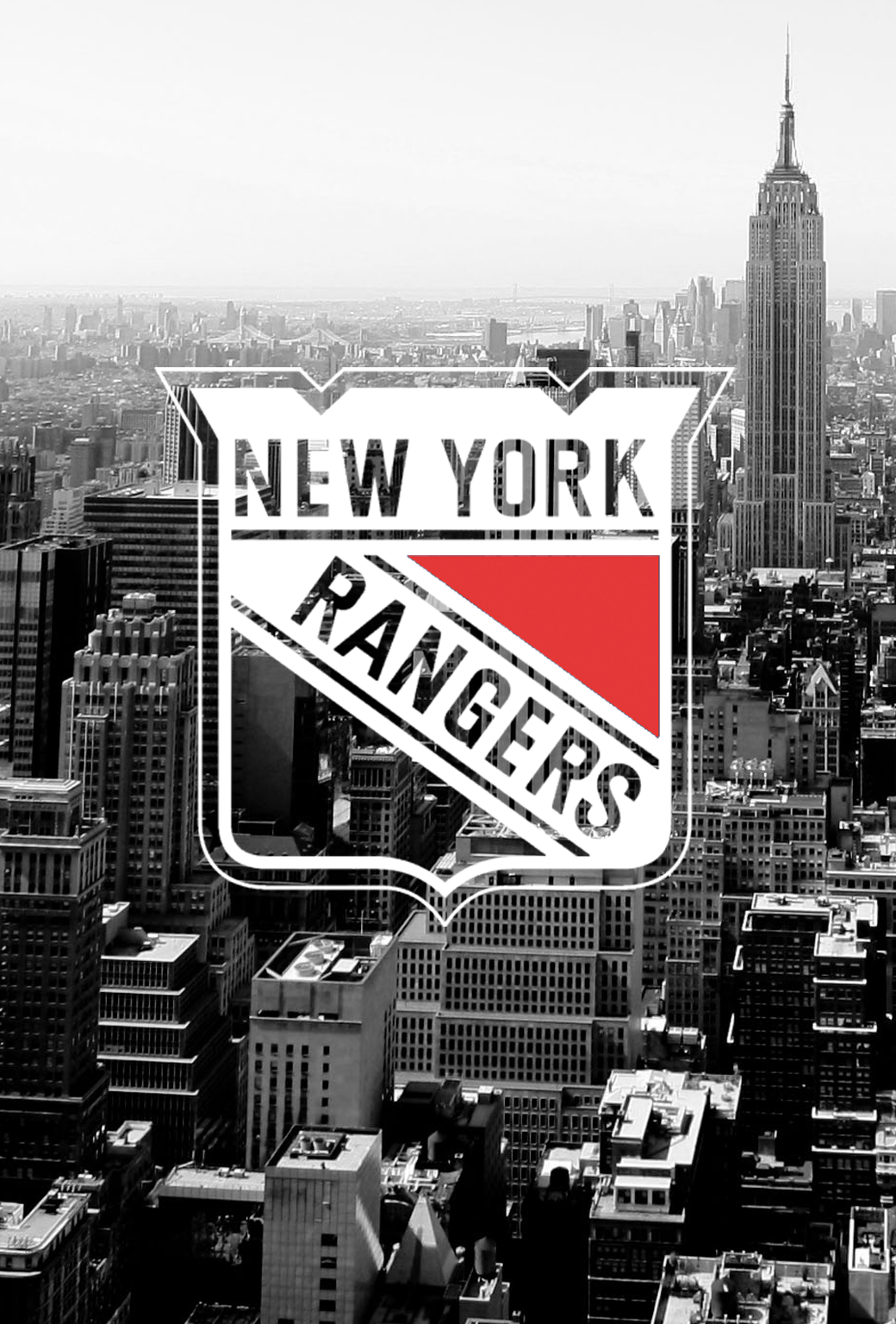 New York Rangers NYC skyline mobile wallpaper iPhone 4 or iPhone 5s 1040x1536