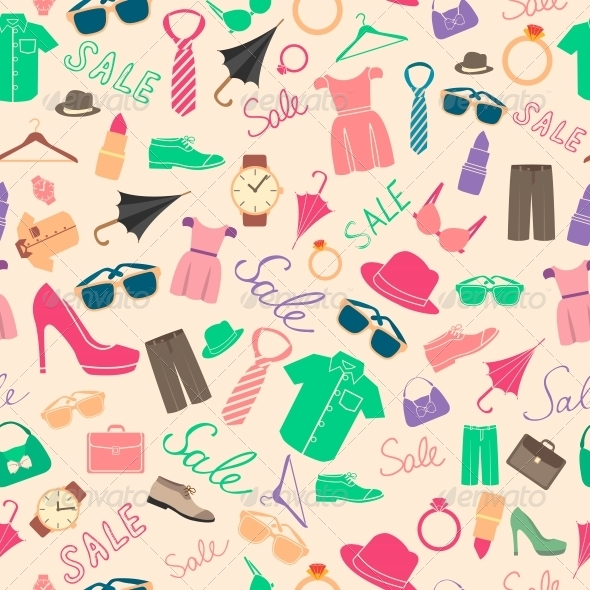 Fashion and Clothes Accessories Seamless Pattern   Backgrounds 590x590