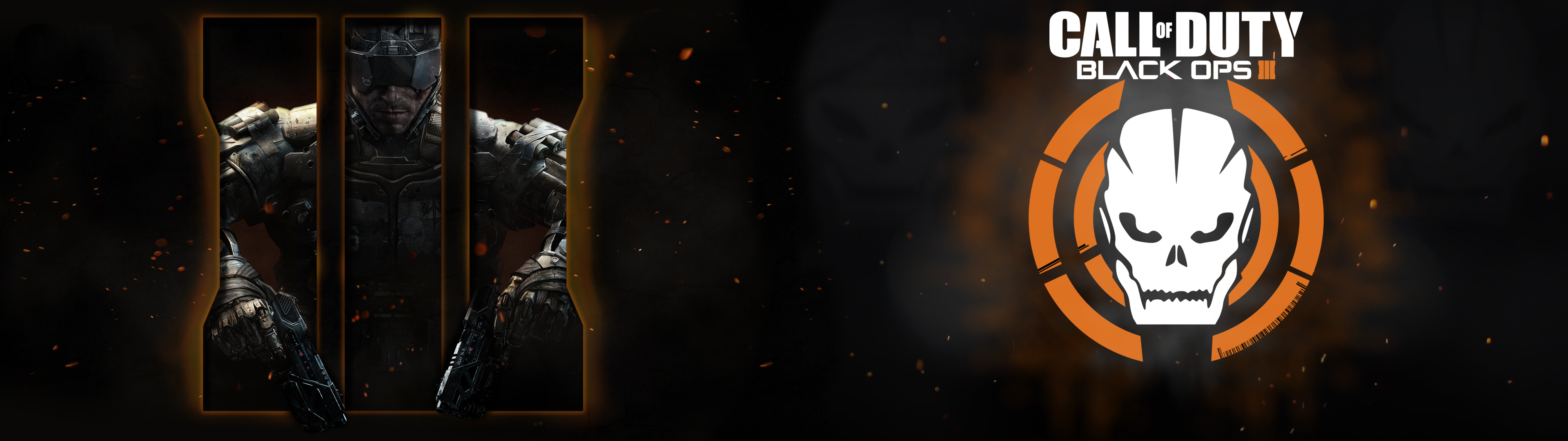 Call of Duty Black Ops 3 Dual Wallpaper 05 by Toby Affenbude by 3840x1080