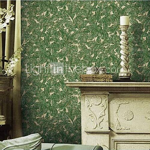 Covering Non woven Paper Green Banana Leaf Wallpaper 2016 4799 500x500