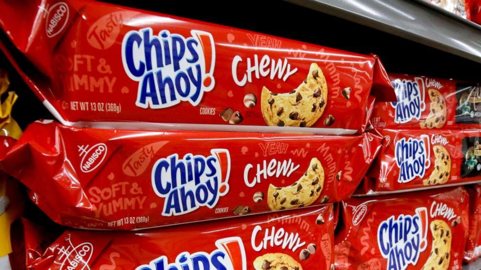 Chewy Chips Ahoy cookies recalled due to unexpected solidified 992x558