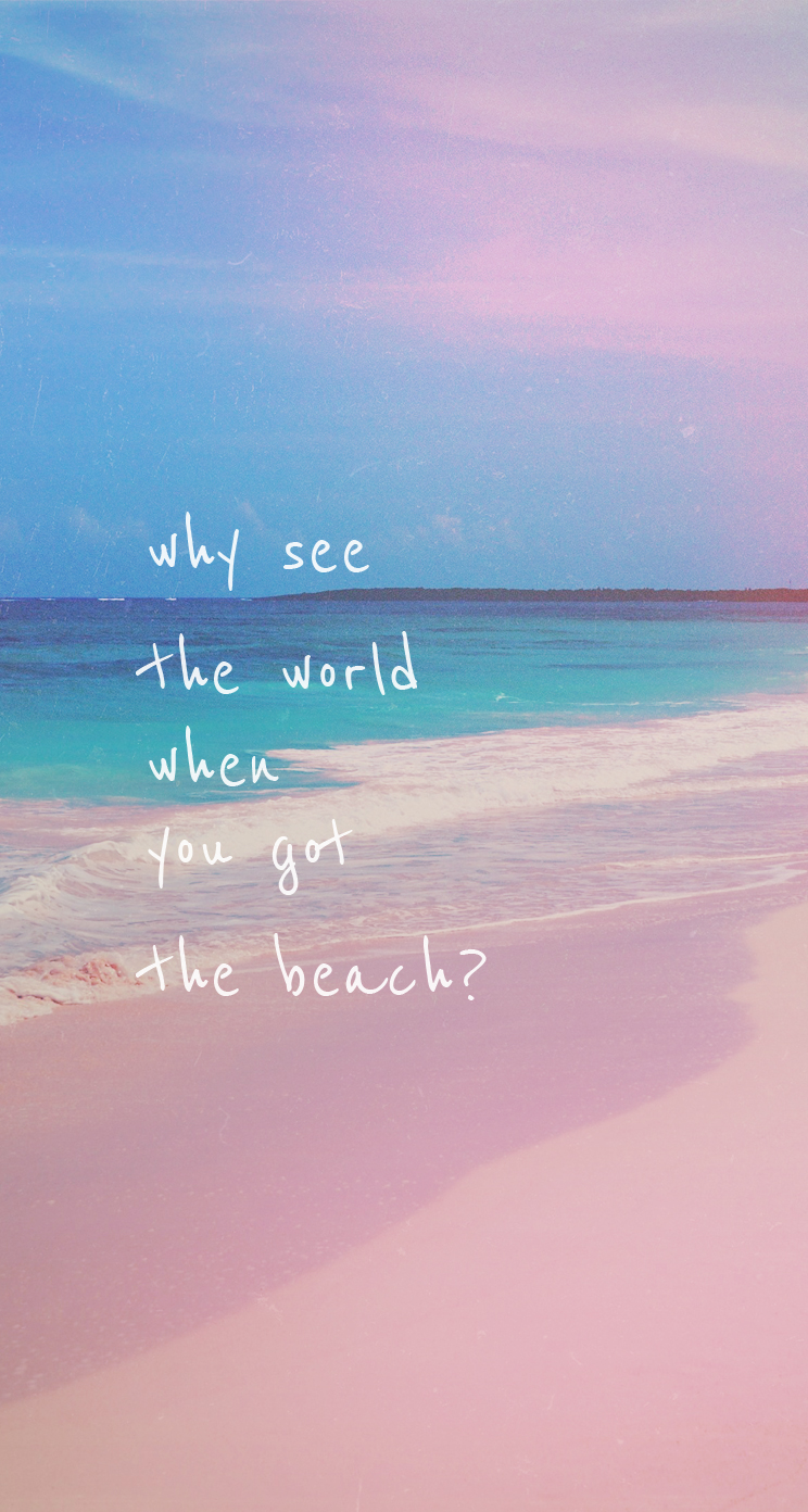 Lifes a Beach iPhone iPad Wallpapers Graphic and Web Design 744x1392