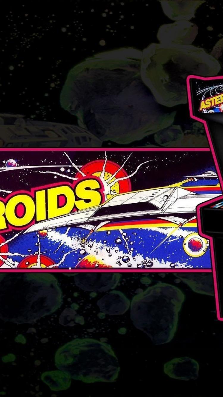 Arcade asteroids retro games wallpaper 26720 750x1334