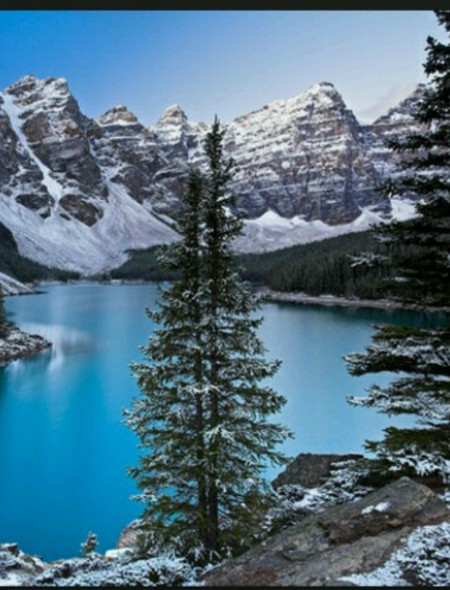 Snow Capped Rocky Mountains Wallpaper for Amazon Kindle Fire HD 89 450x590