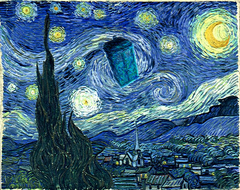 Doctor Who Tardis Wallpaper Van Gogh Images Pictures   Becuo 800x633
