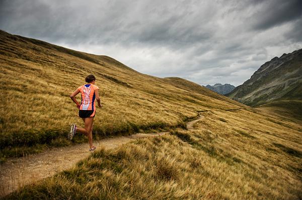 Ultra runner Rory Bosio seen here on a training run near Chamonix in 600x399