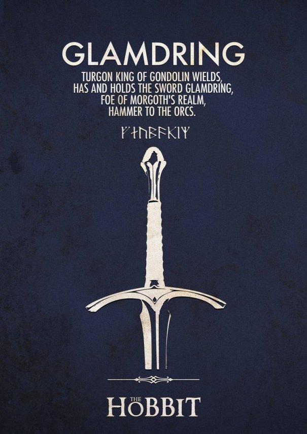 glamdring JRR Tolkien 605x855