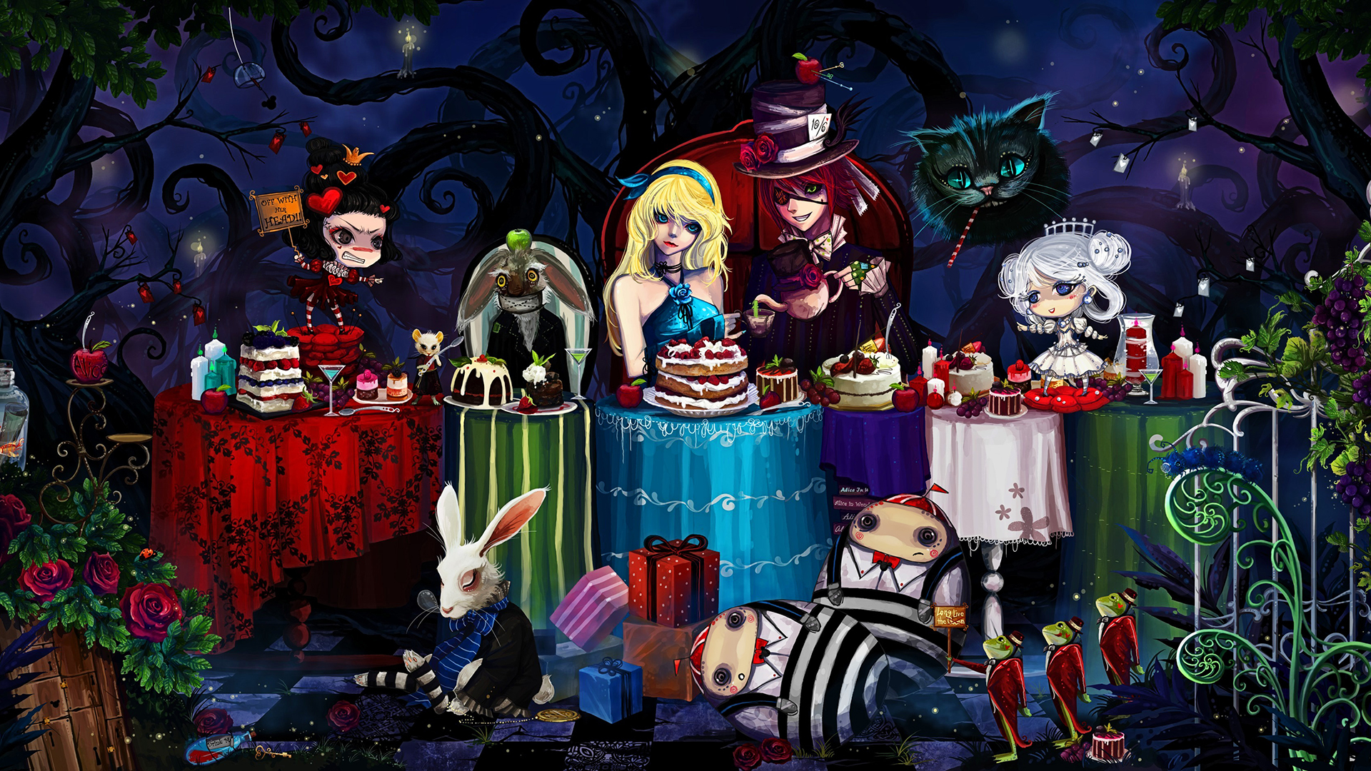 Free Download Hd Alice In Wonderland Wallpaper 1920x1080 For