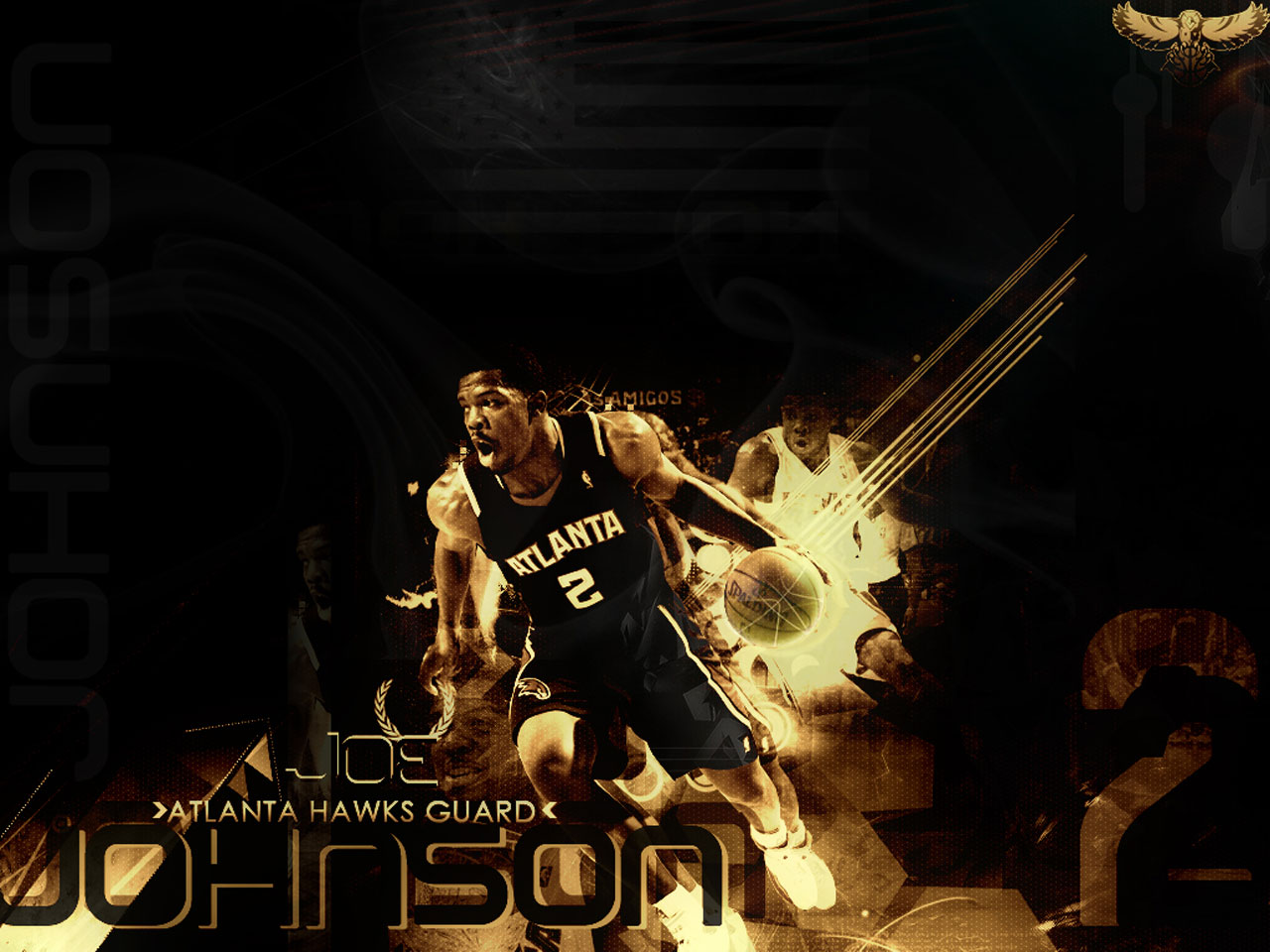 Joe Johnson Hawks Wallpaper Basketball Wallpapers at 1280x960