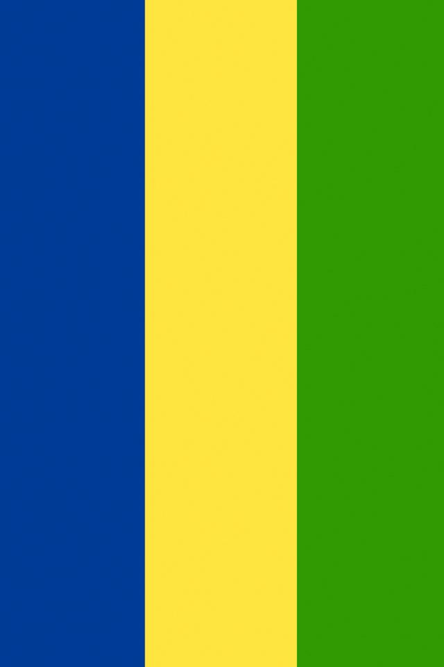 Gabon Flag iPhone Wallpaper HD 640x960