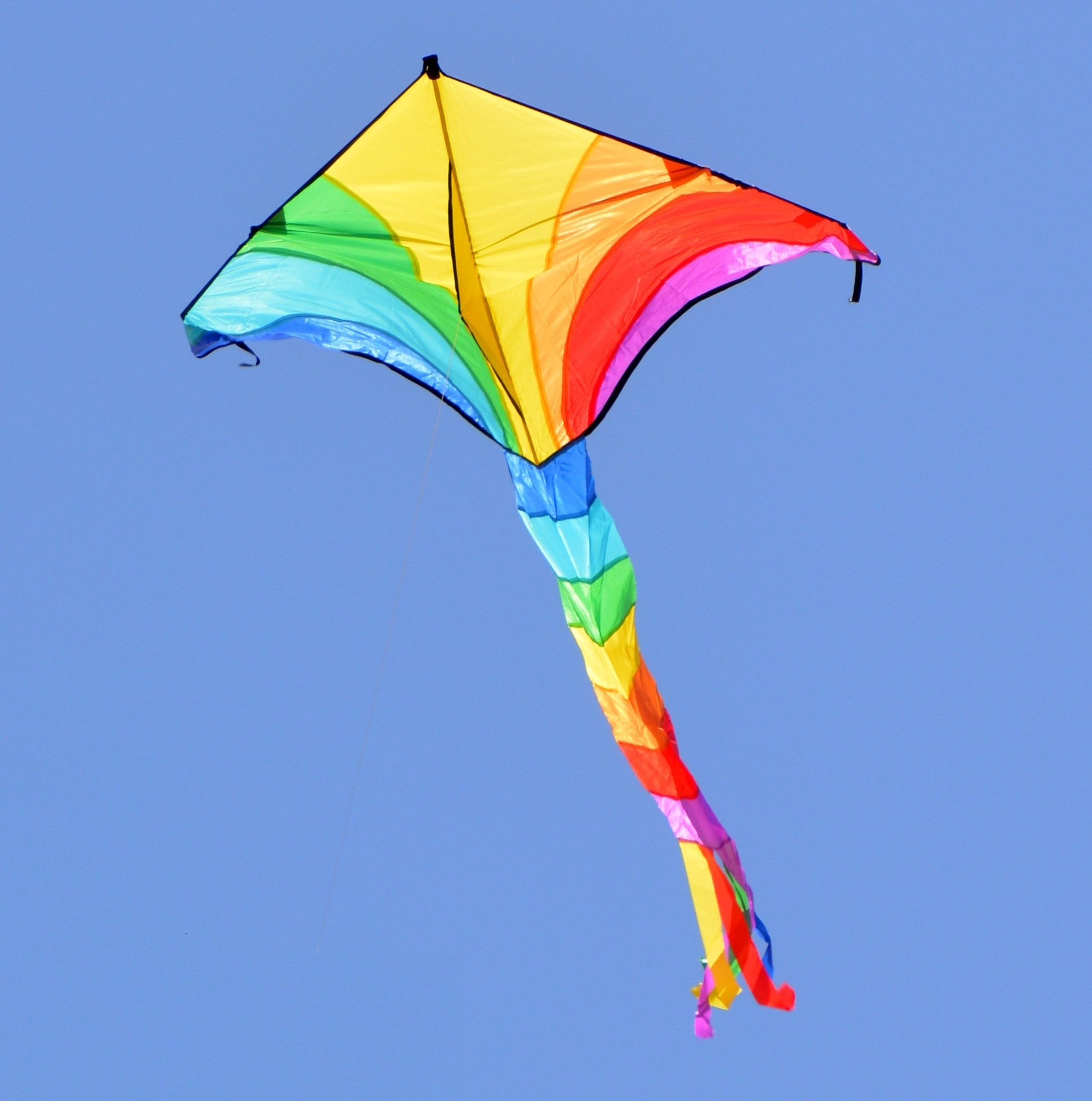 yellow and blue kite image Peakpx 1965x1981