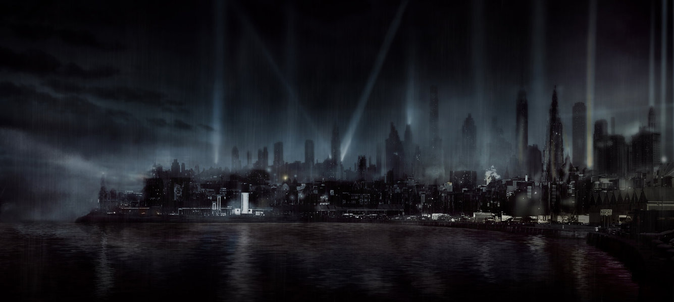 Film Noir city by Silberius 1335x599