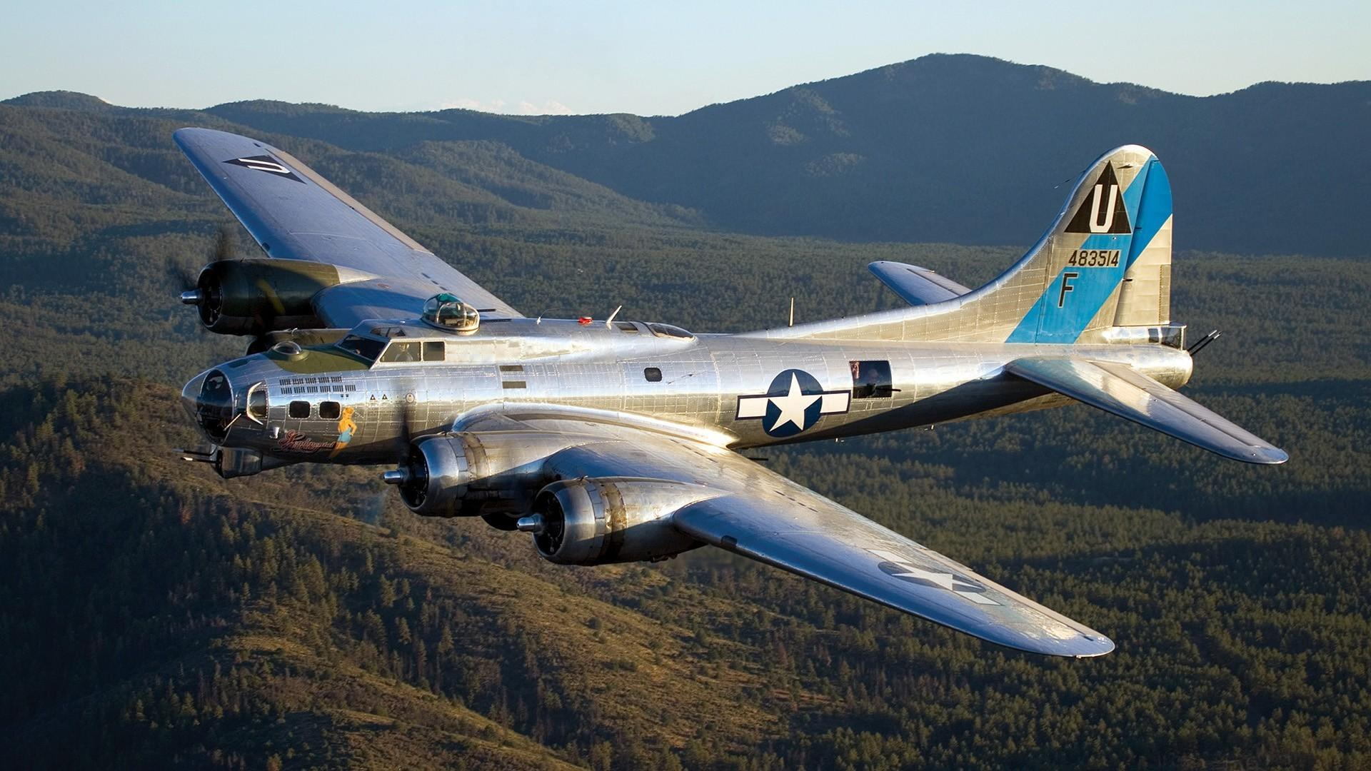 Airplanes warbird b 17 flying fortress wallpaper 35102 1920x1080