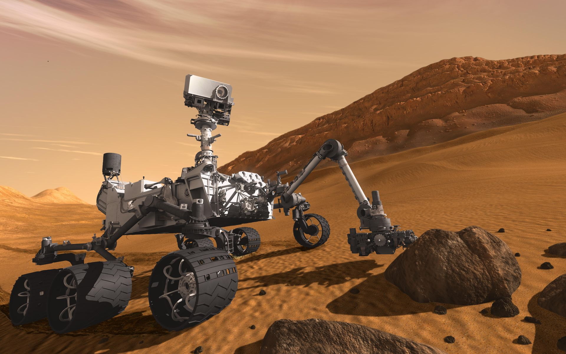 Space Images Curiosity The Next Mars Rover Artists Concept 1920x1200