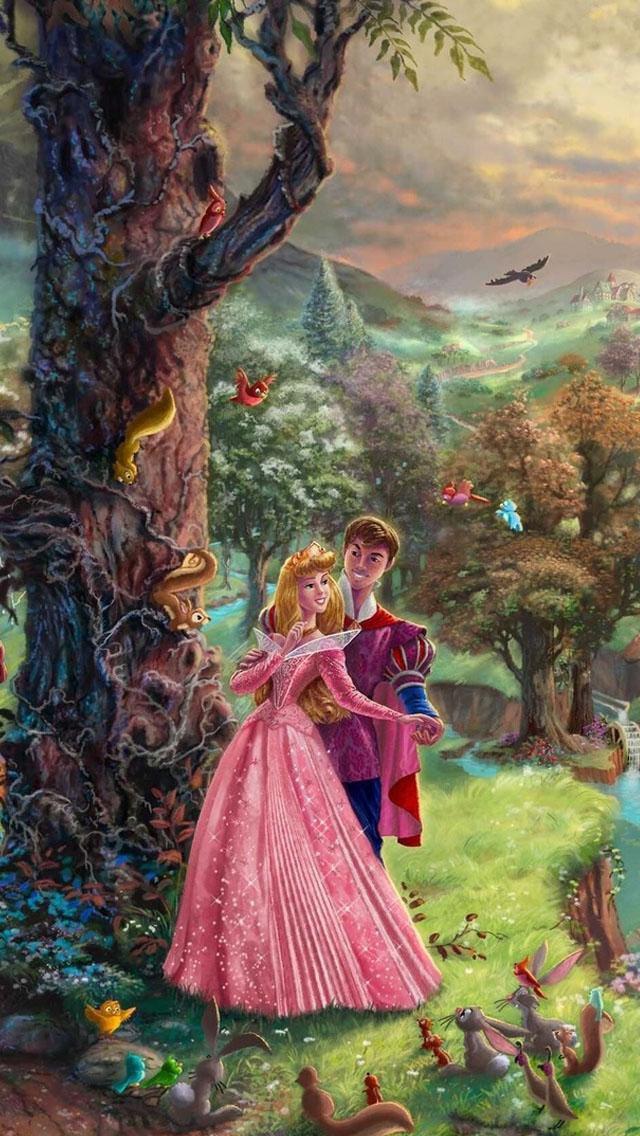 Thomas Kinkade Sleeping Beauty Wallpaper   iPhone Wallpapers 640x1136