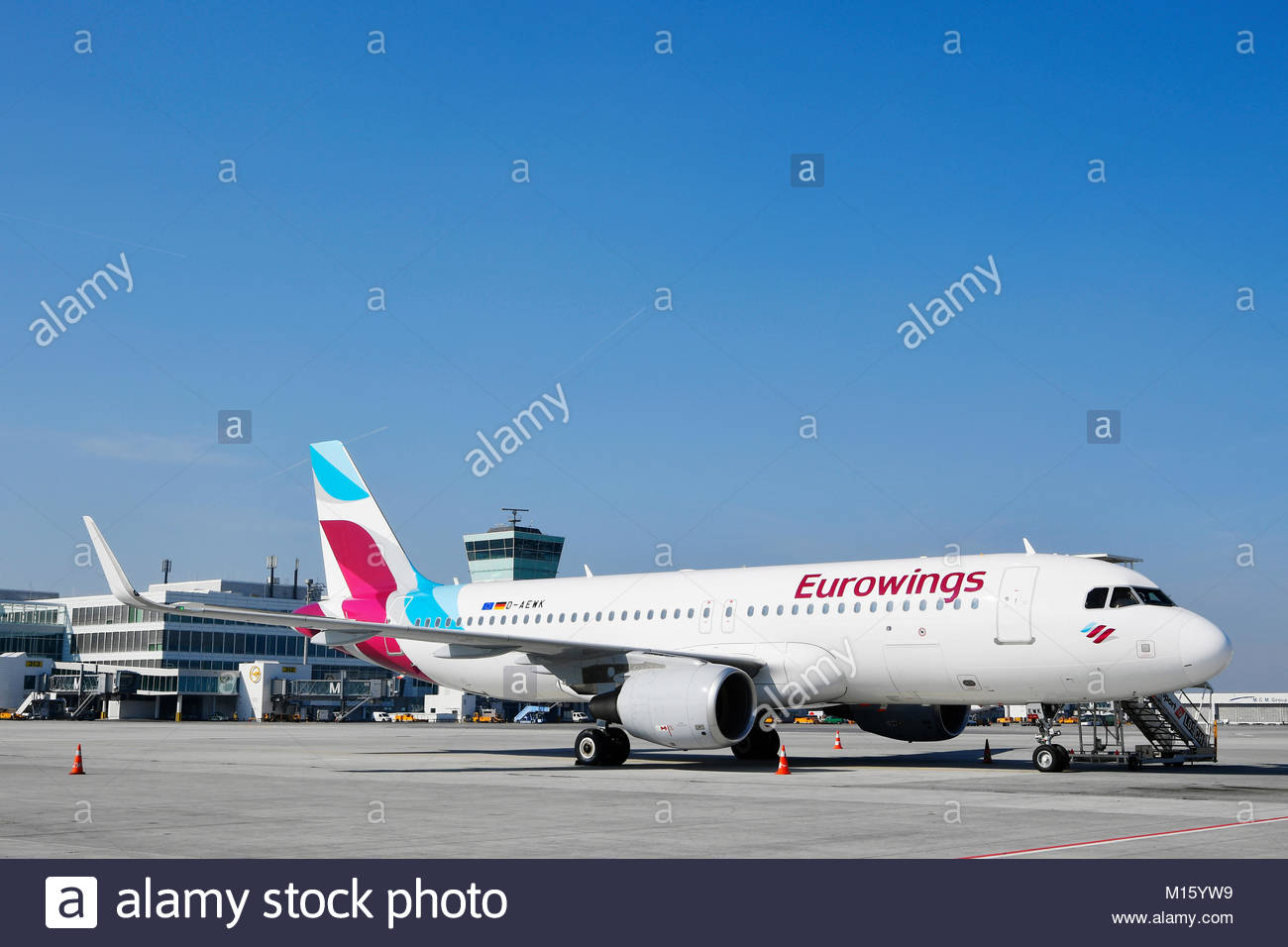 EurowingsAirbus A 320Apron EastSatellite in the background 1300x956