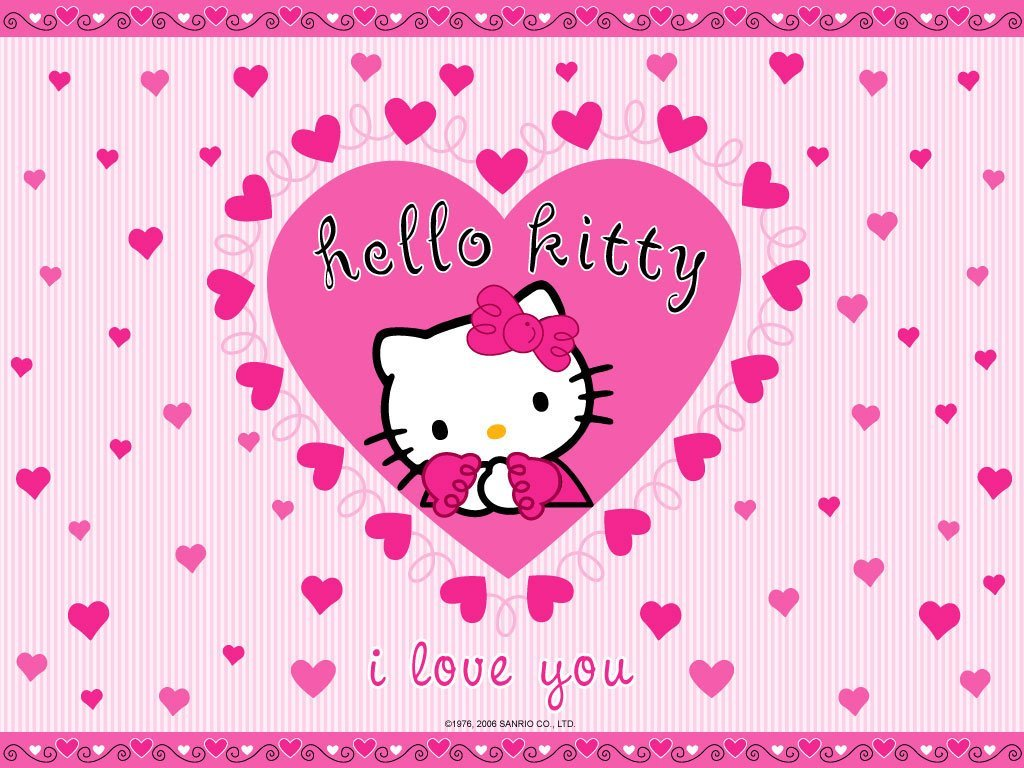 free hello kitty wallpaper download   hello kitty desktop wallpaper 1024x768