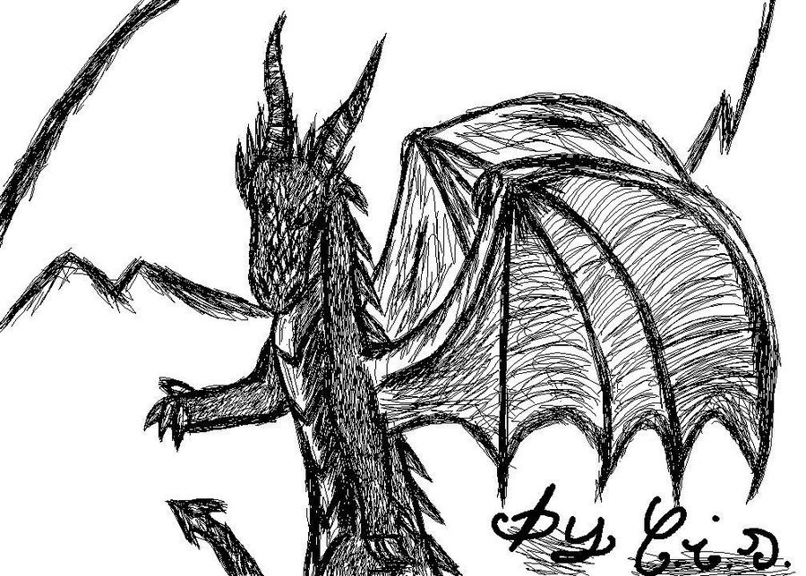 Black and white dragon by chichi dragon loverjpg 900x644