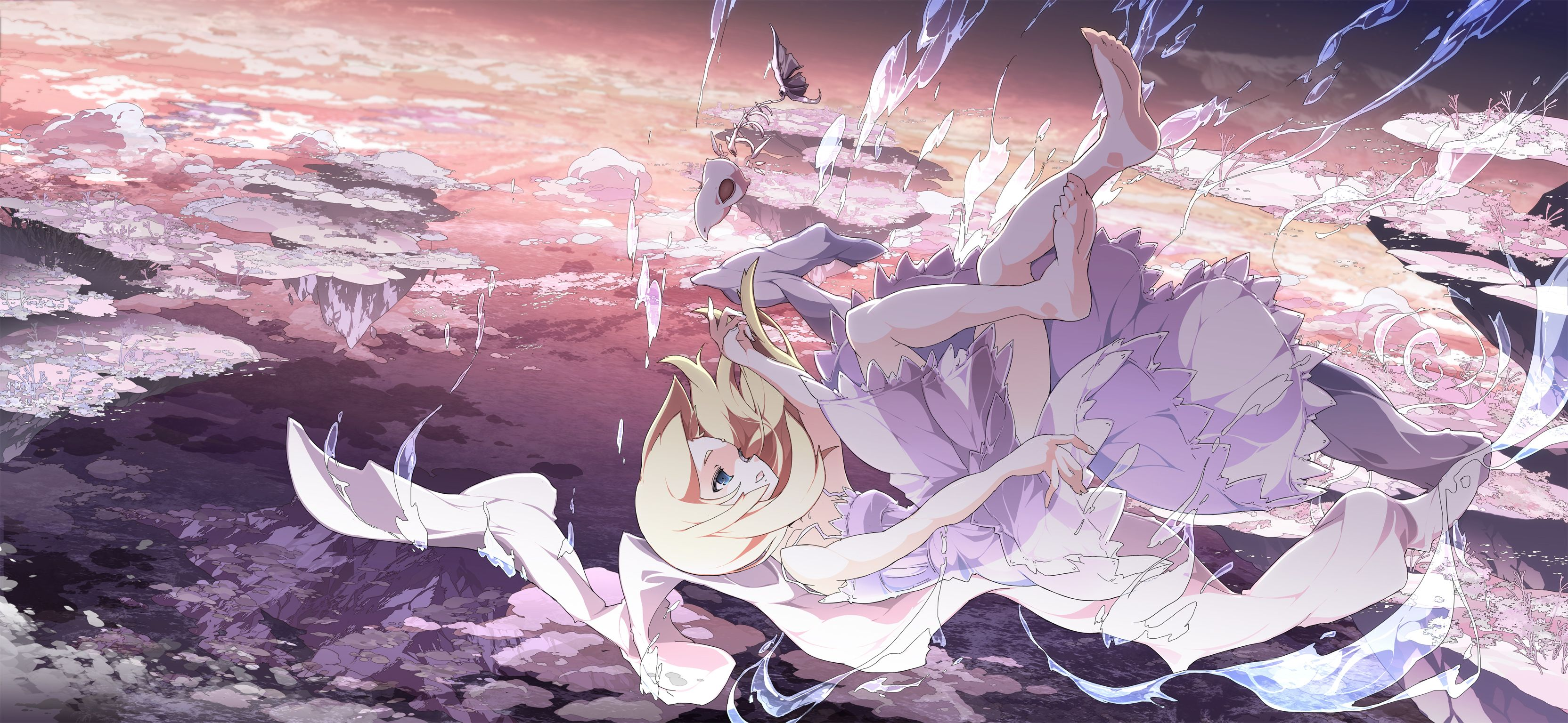 Anime Wallpaper 2020 Sky anime Cool anime pictures Anime 3328x1536