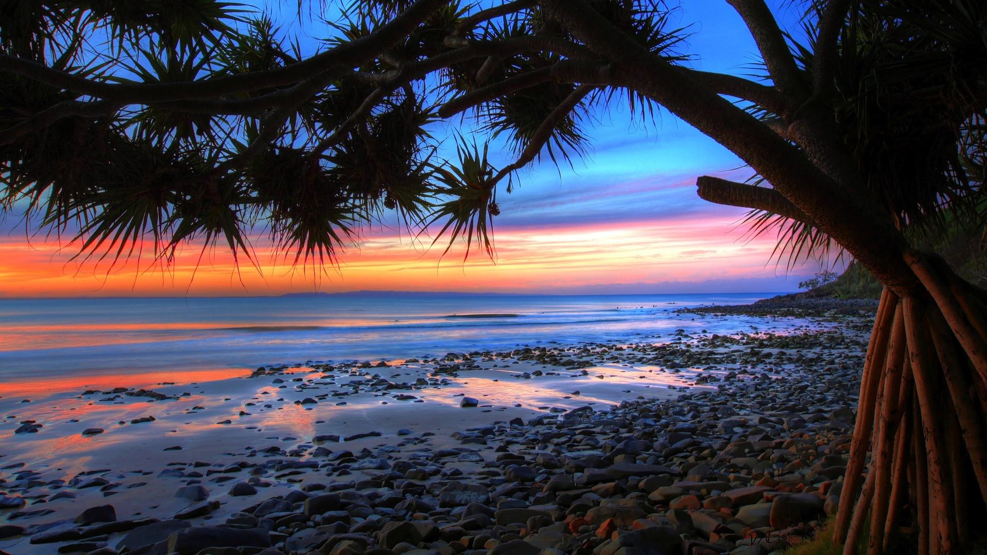 windows 8 wallpaperscomwallpaperswindows 8 australian beach sunset 1920x1080