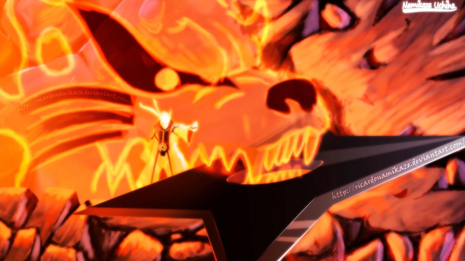 naruto uzumaki kyuubi cloak mode shuriken Shippuden Anime Wallpaper HD 1600x900