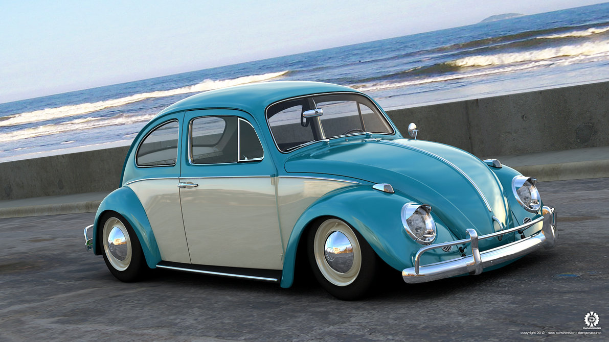 1966 VW Beetle by dangeruss 1191x670