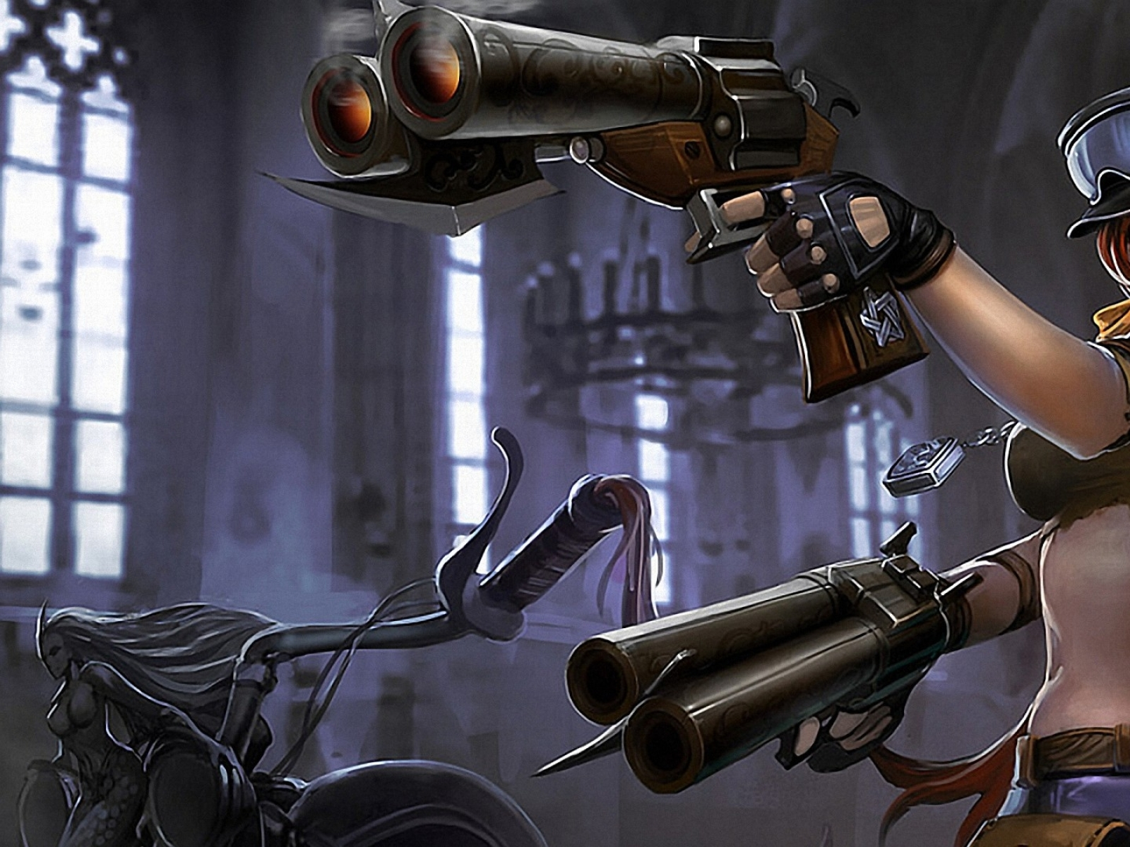 girls with guns miss fortune 1920x1080 wallpaper Wallpaper 1600x1200
