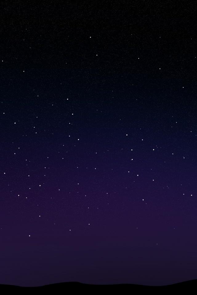 640x960 Starry Night Sky Iphone 4 wallpaper 640x960