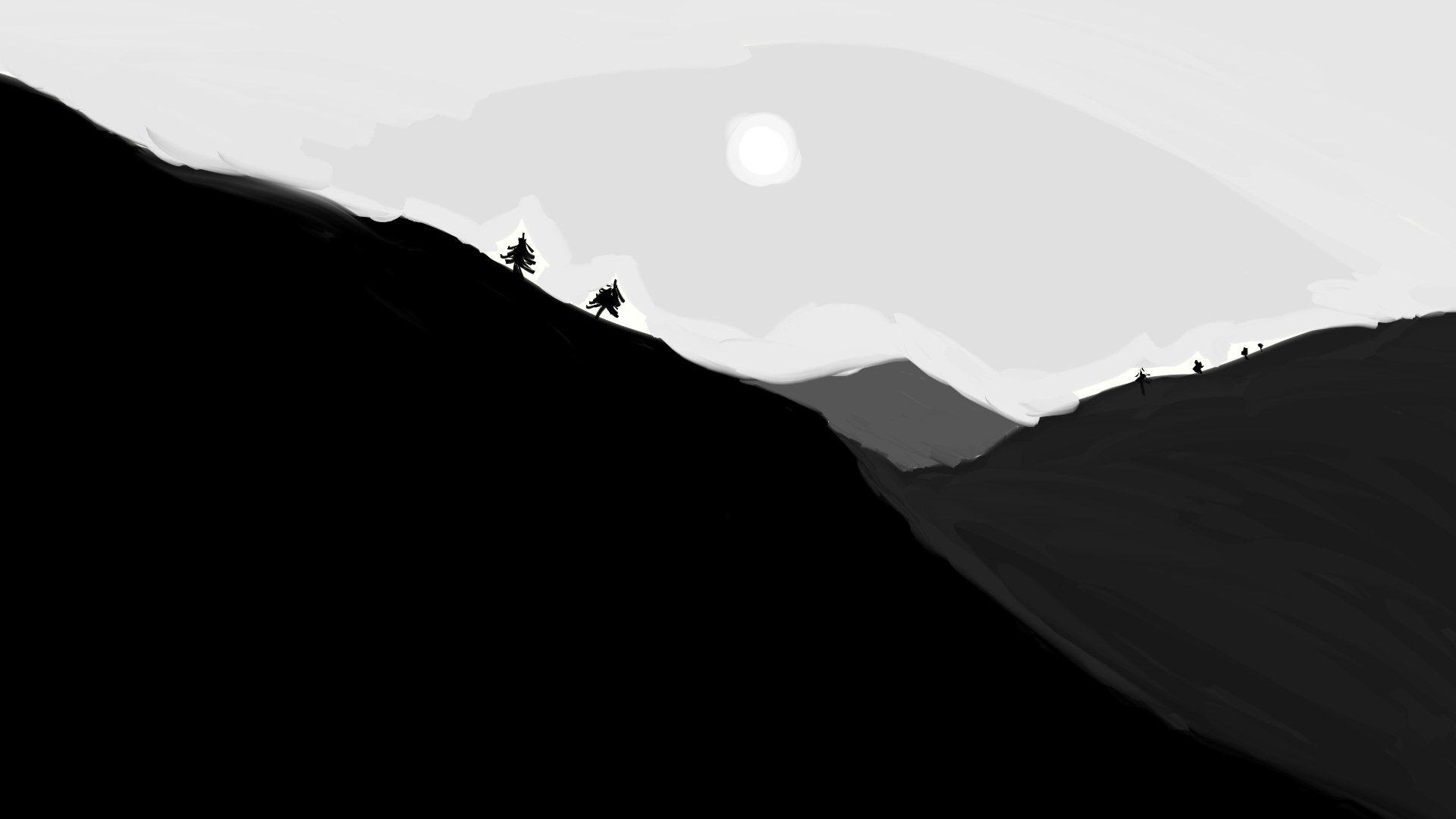 Free download Minimal Black Hills Cool Wallpapers ...