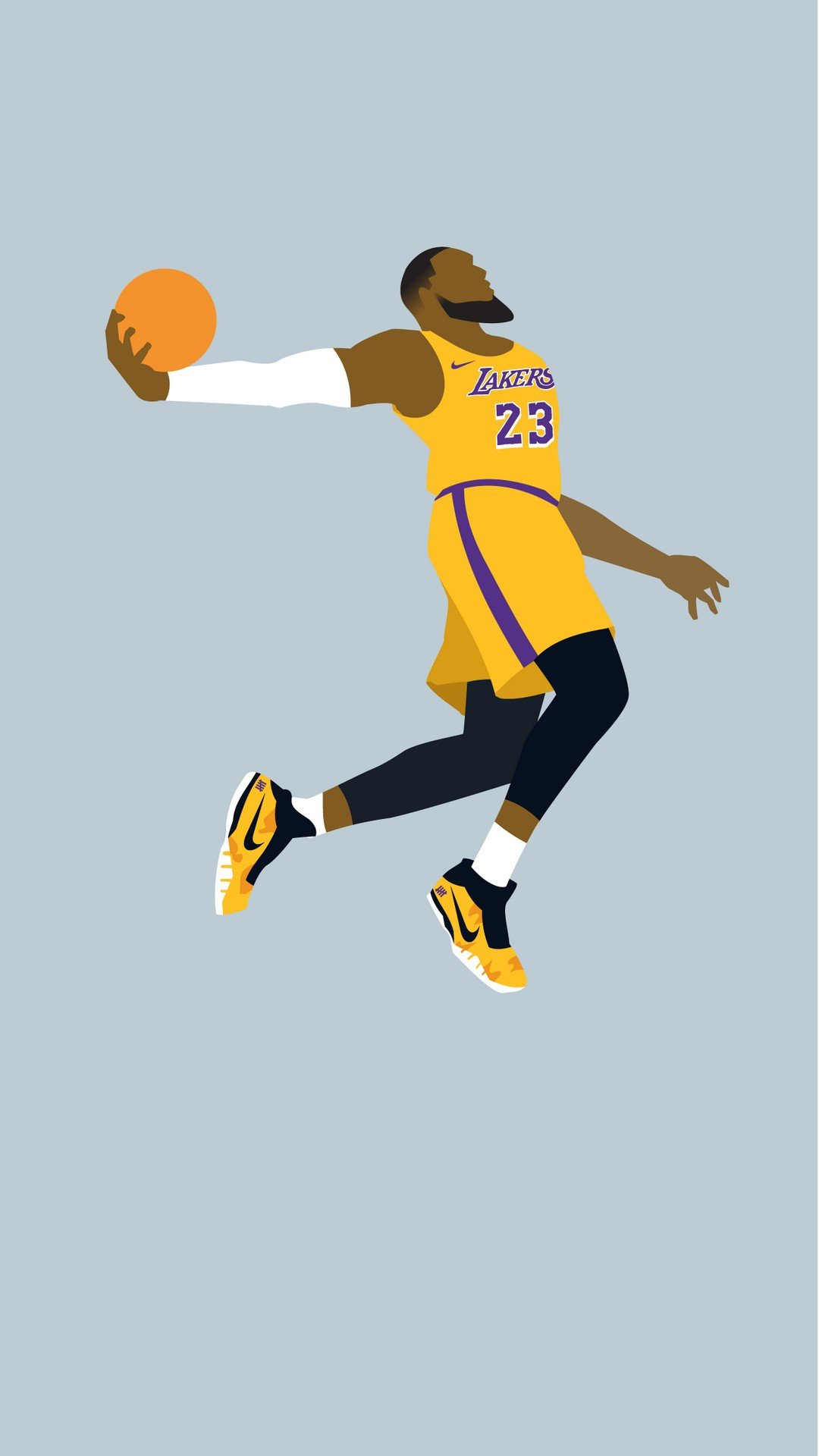 iPhone Wallpaper HD LeBron James LA Lakers 2020 Basketball Wallpaper 1080x1920
