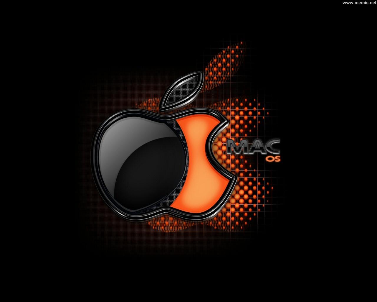 Per visualizzare lo sfondo di Apple dark orange in dimensioni intere 1280x1024