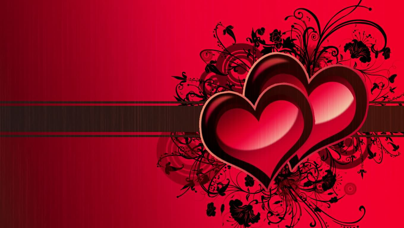 Love Heart Background Wallpaper Design   Images Photos 1360x768