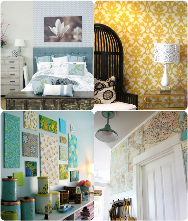 Removable wallpaper 2 Starched fabric 3 Fabric covered foam 600x703