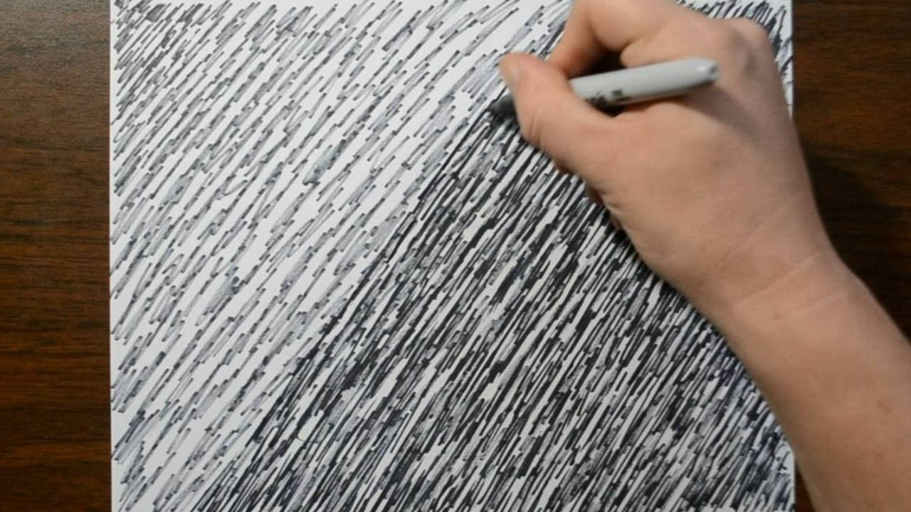 Drawing a Background Pattern with a Sharpie   Expressive Abstract 1280x720