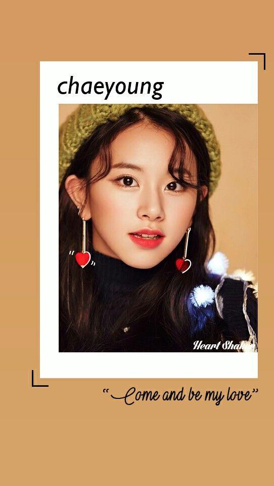 Son Chaeyoung Chaeyoung Twice Heart Shaker Lockscreen 542x960