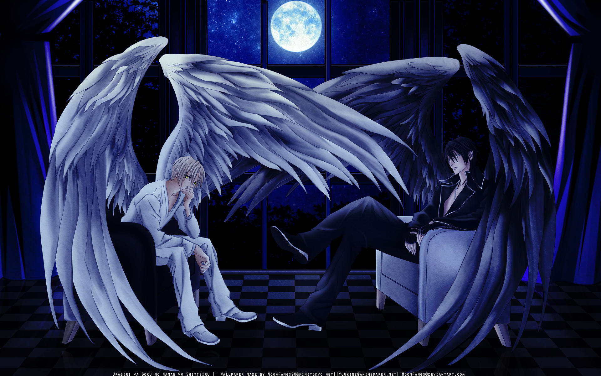 Anime Angel wings Wallpapers Backgrounds Images Art Photos 1920x1200