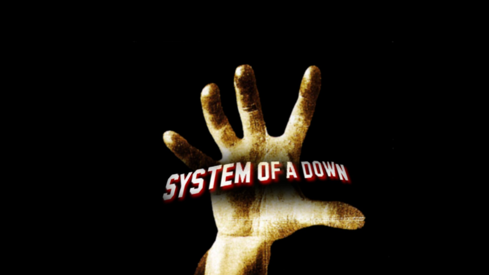 ScreenHeaven System Of A Down black background hands palm 1920x1080