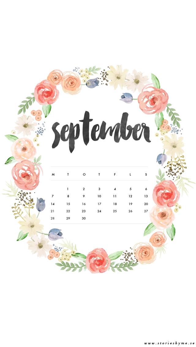 Cute September 2018 Calendar Wallpaper kamenitzafanclubcom 640x1136