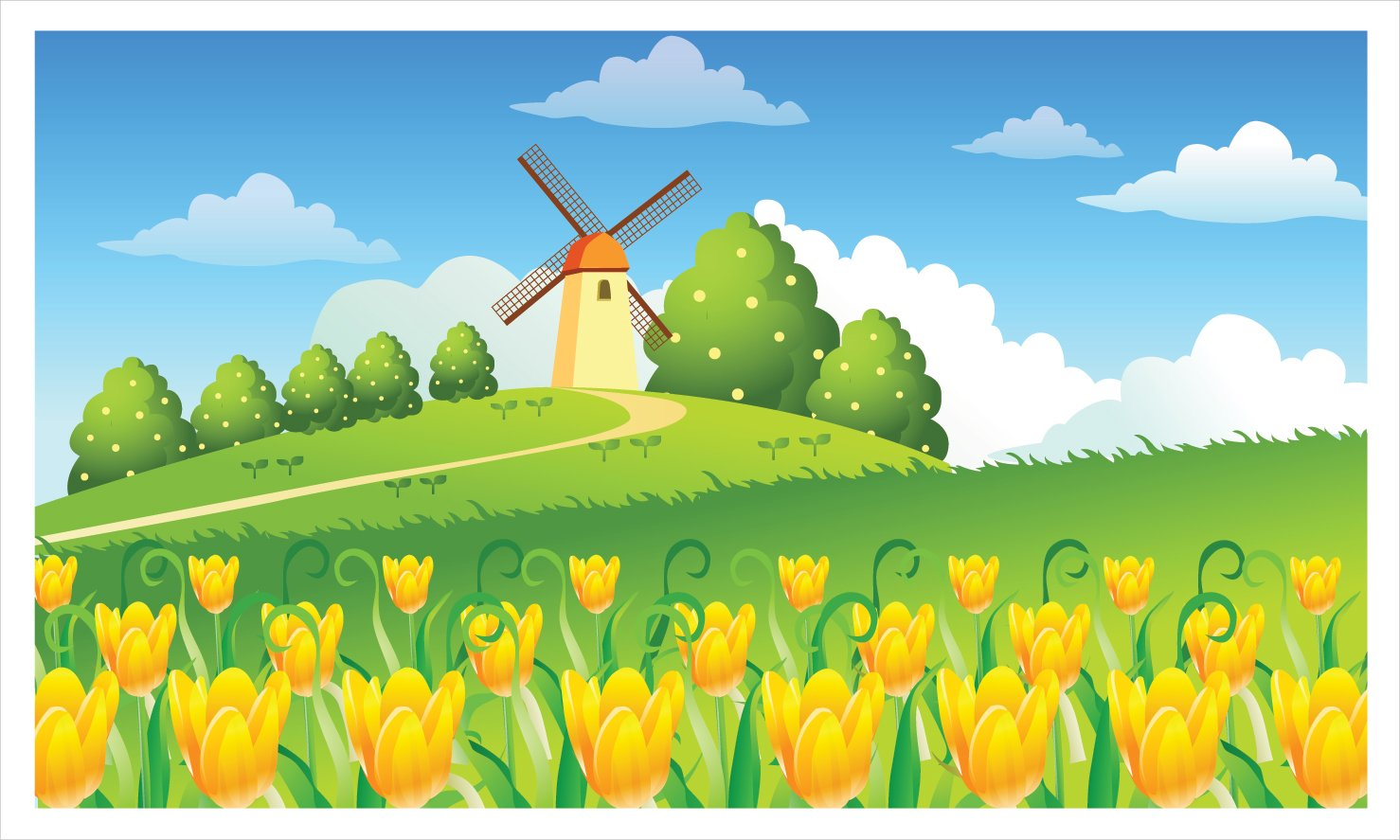 Cartoon garden wallpaper cartoon wallpaper Wallpaper Art 1478x887