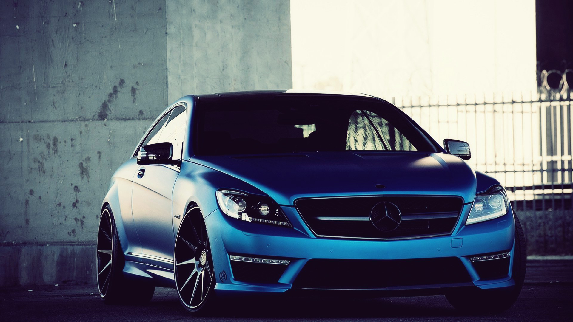 free download blue mercedes car wallpaper blue mercedes car 1920x1080