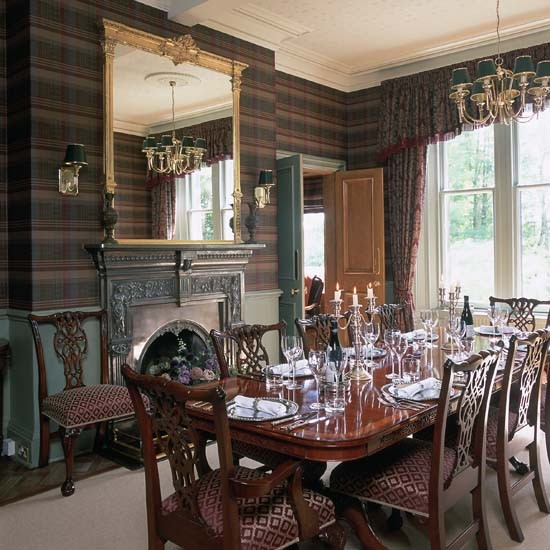 Home Dining Room Dining room wallpaper   10 decorating ideas 550x550