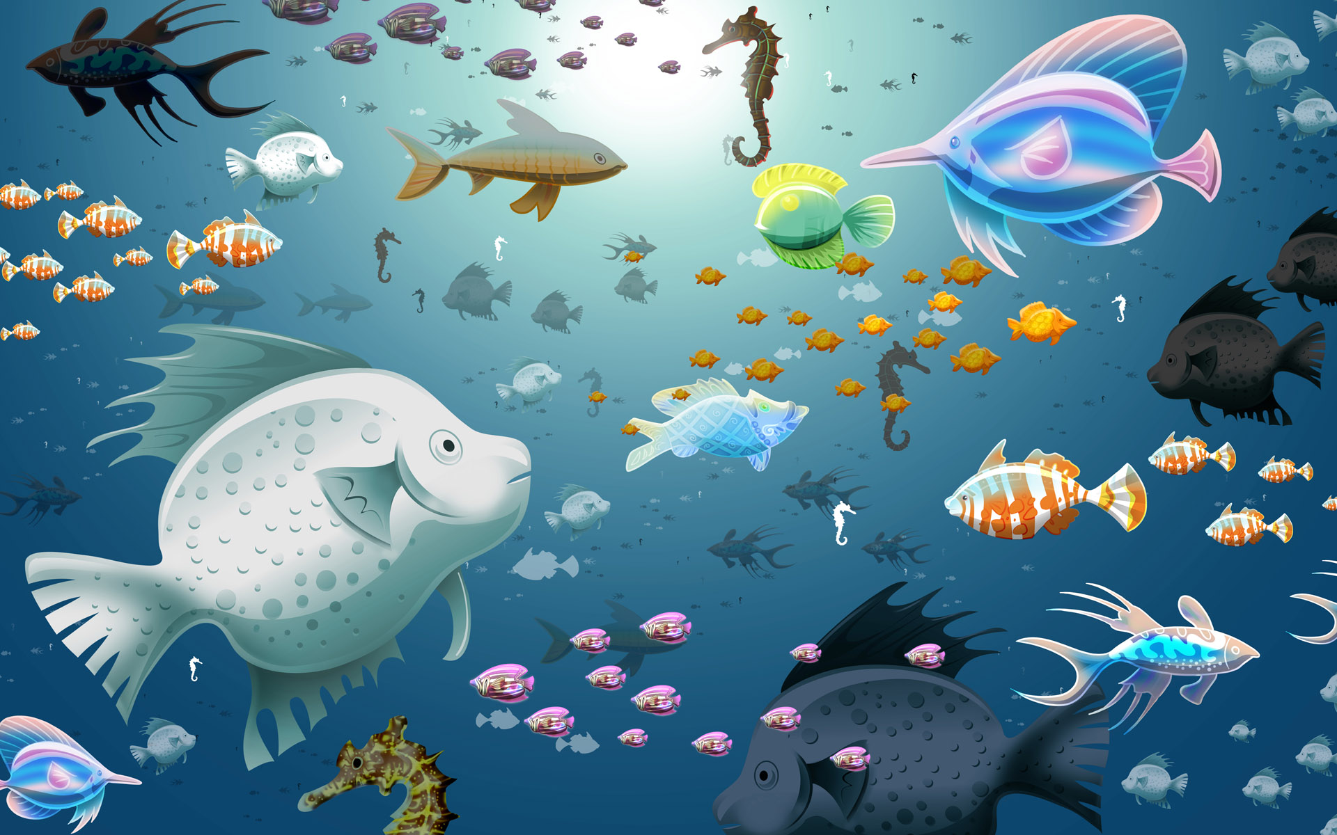 wallpaper stores wallpapers fish designer discount 1920x1200