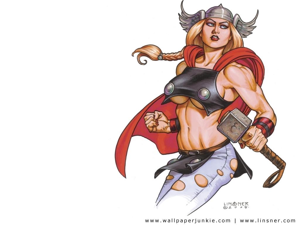 Female Thor Alternate Universe   Marvel Superheroines Wallpaper 1024x768